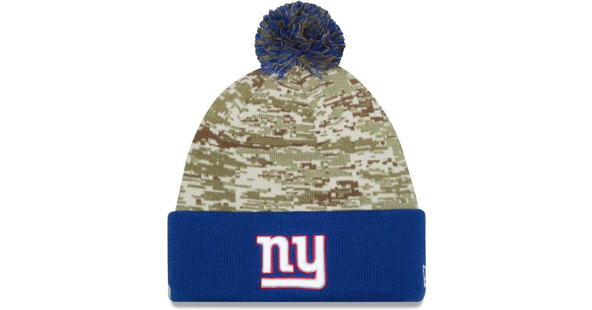 97516cc55b9 Lyst - KTZ New York Giants Salute To Service Knit Hat in Green for Men