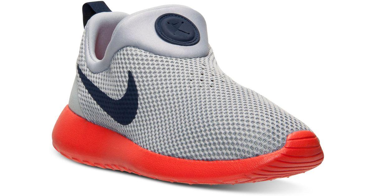 sale retailer d91f9 d765e Nike Orange Mens Roshe Run Slip On Casual Sneakers From Finish Line for men