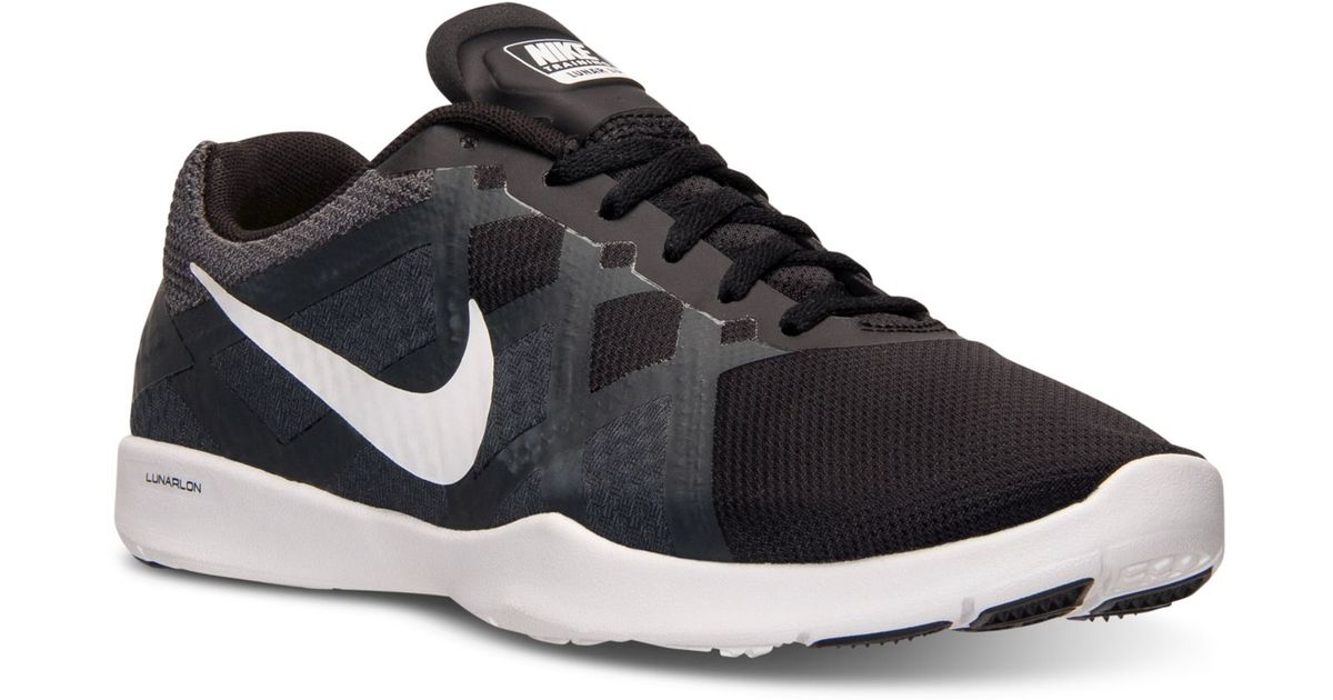 low priced a0f43 cb46c Nike Women s Lunar Lux Tr Training Sneakers From Finish Line in Black - Lyst