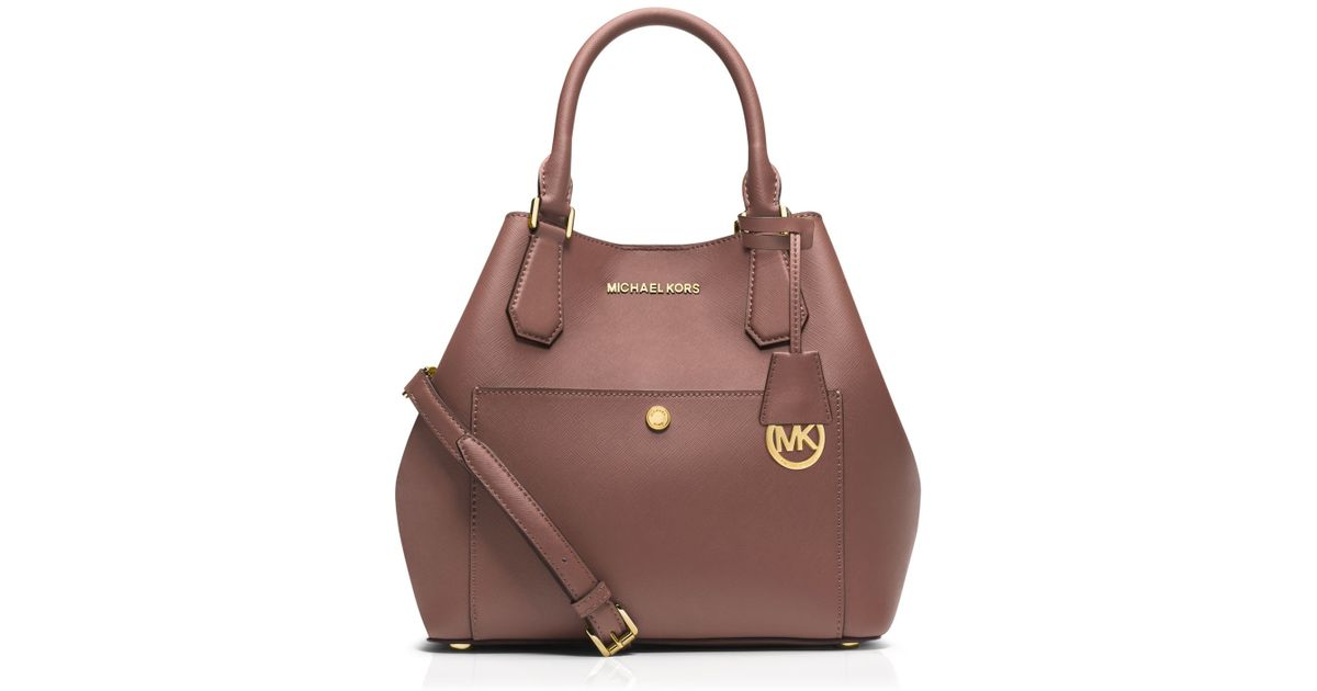 a714dcaad48fae MICHAEL Michael Kors Greenwich Large Grab Bag Satchel in Pink - Lyst