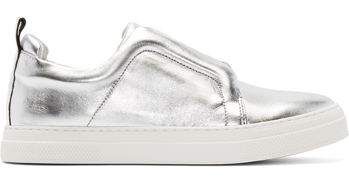 Black and White Snakeskin Slip-On Sneakers Pierre Hardy G3wsoKd