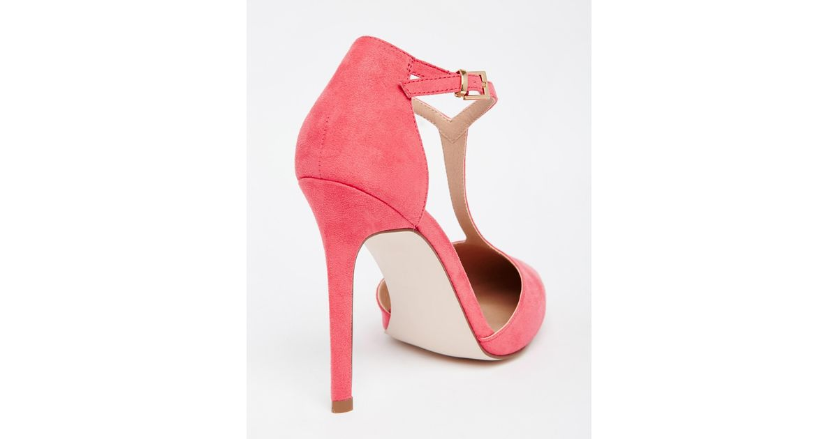 ASOS Pink Popular Wide Fit Pointed High Heels