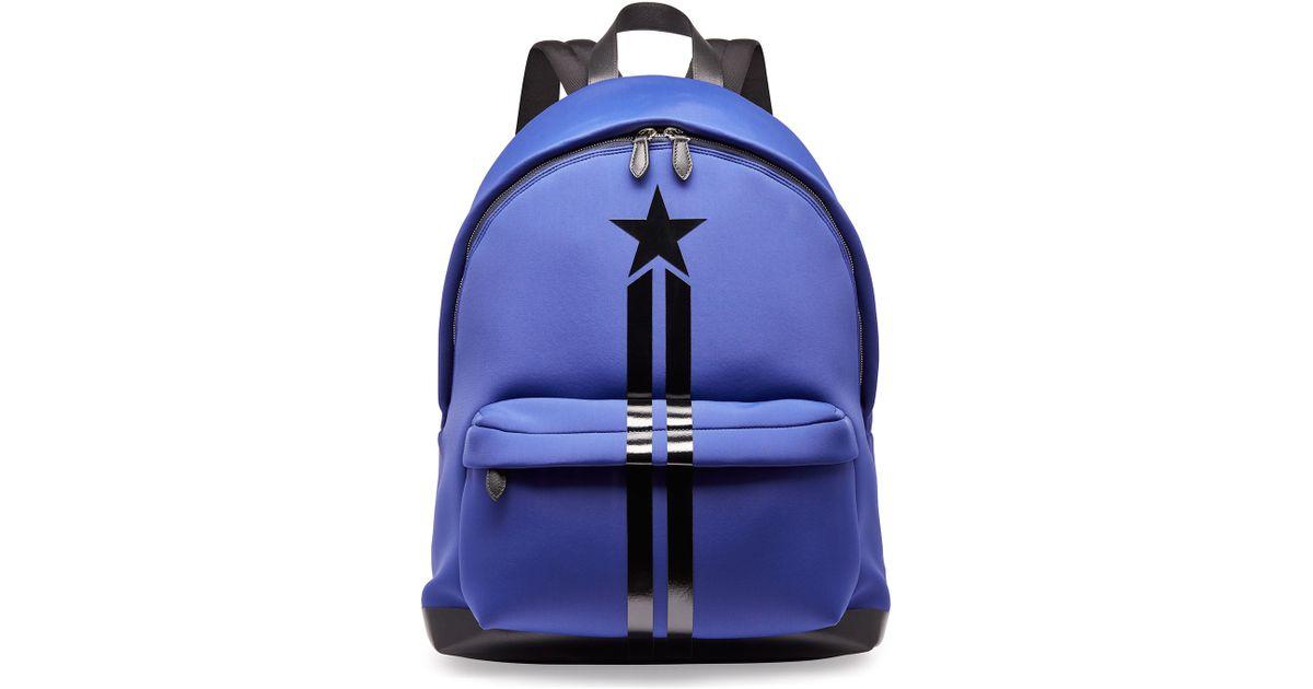 962cc0058c9 Givenchy Blue Star & Stripe Neoprene Backpack for men