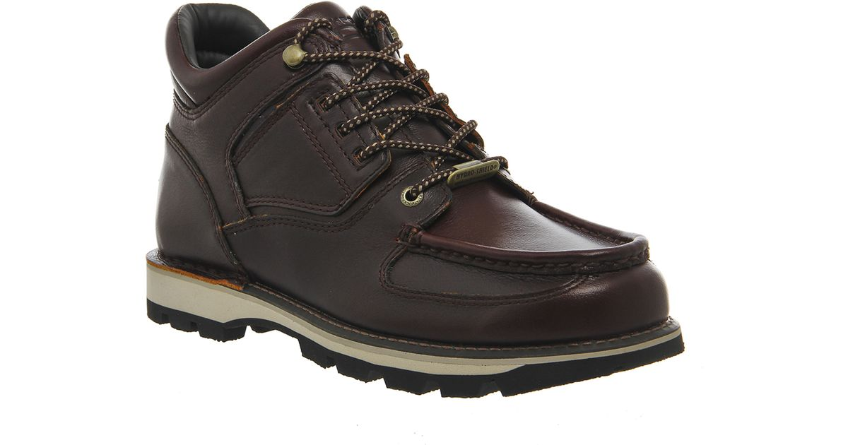rockport umbwe boots in brown for lyst