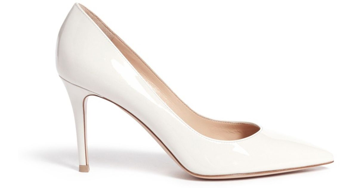 ae498d60731 Gianvito Rossi White 'gianvito 85' Patent Leather Pumps