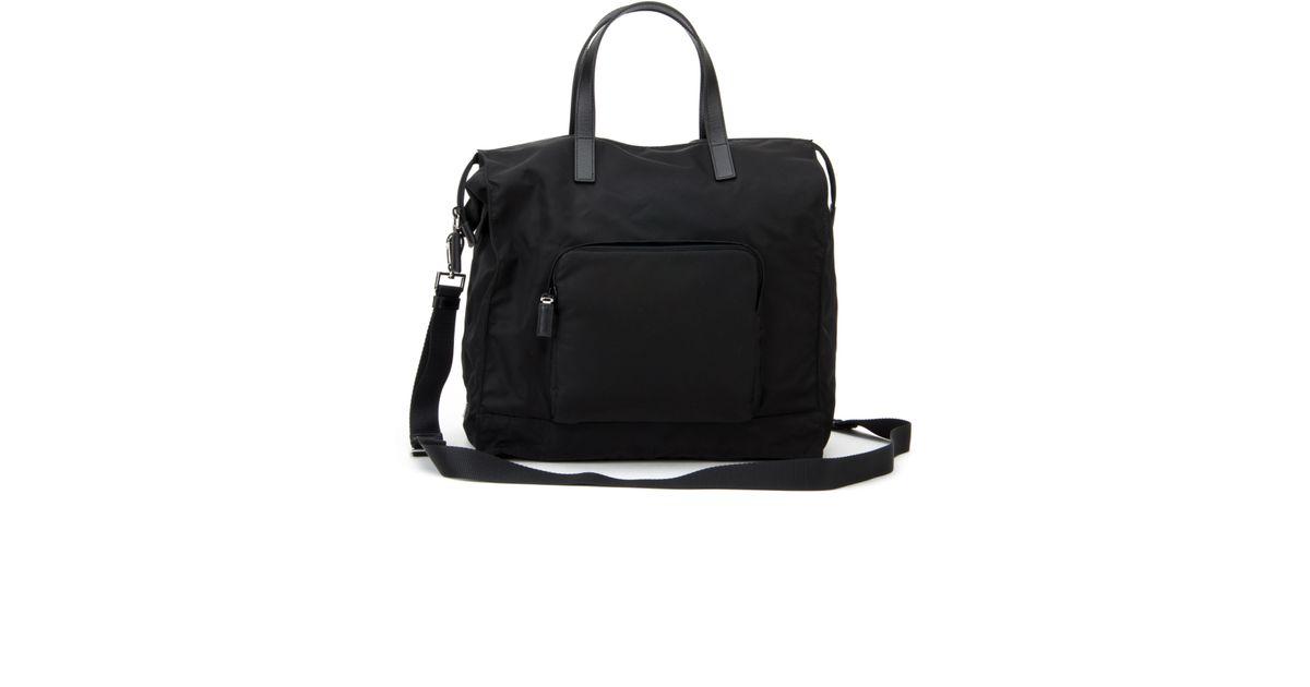 Prada Twill And Saffiano Travel Bag in Black for Men (NERO) | Lyst