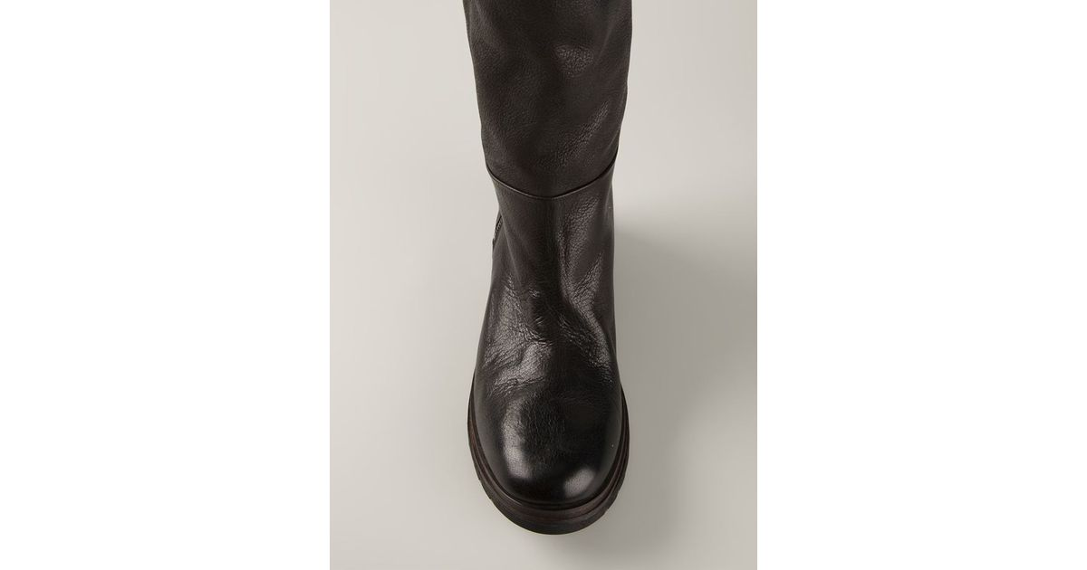 Sole Black In Knee Marsèll Boots Lyst Ridged R06aqa