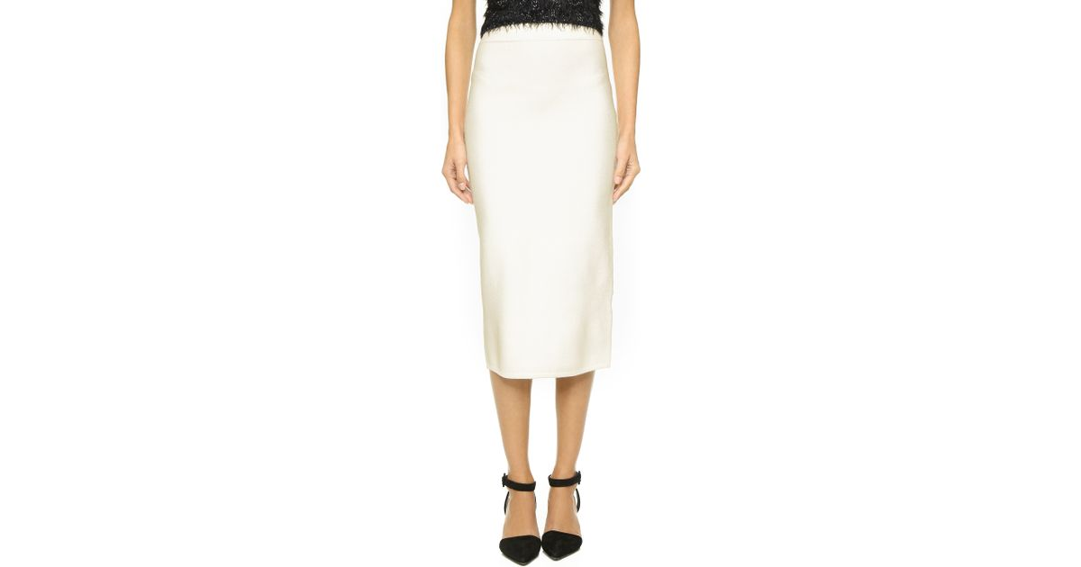 734f92bd65 Jonathan Simkhai Luxe Knit Pencil Skirt - Ivory in White - Lyst