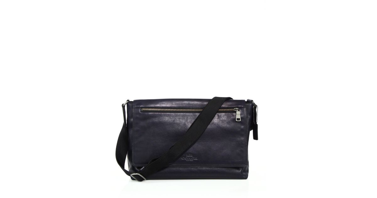 e6c3966c0a762 ... coupon code for lyst coach sullivan leather messenger bag in black for  men ddc16 2c7f3