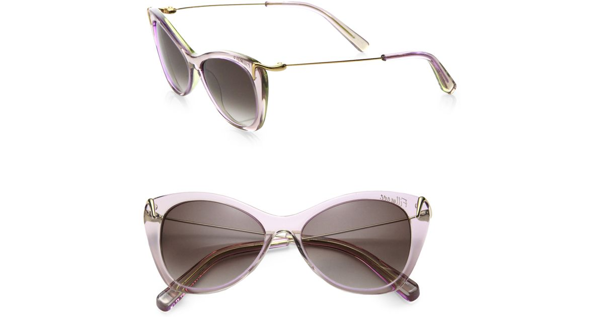 4dd7e02866 Lyst - Elizabeth and James Fillmore Plastic Cat s-eye Sunglasses in Natural