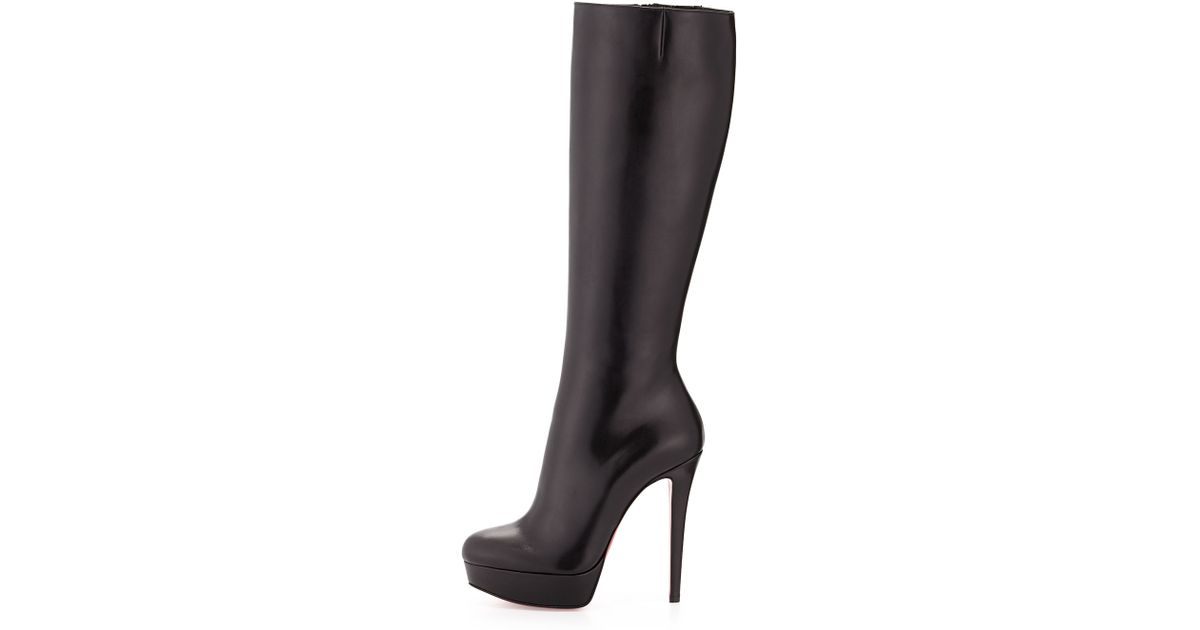 efcab1493cd Lyst - Christian Louboutin Bianca Botta Platform Red-Sole Boots in Brown