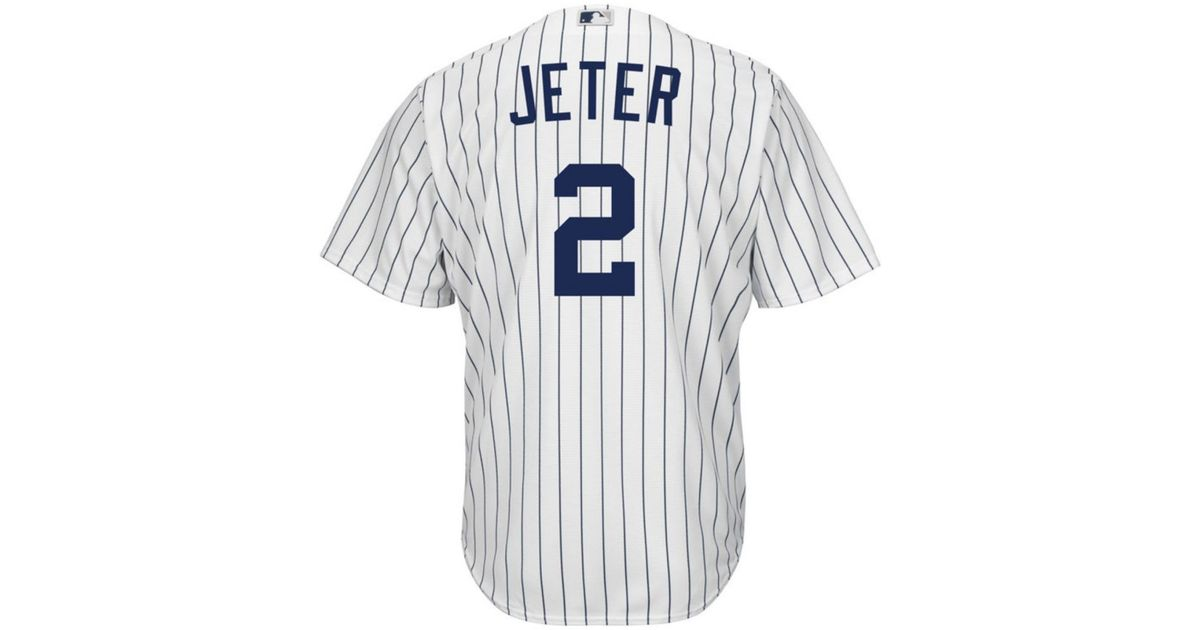 size 40 e9e1d ae9cf Majestic - White Derek Jeter New York Yankees Replica Jersey for Men - Lyst