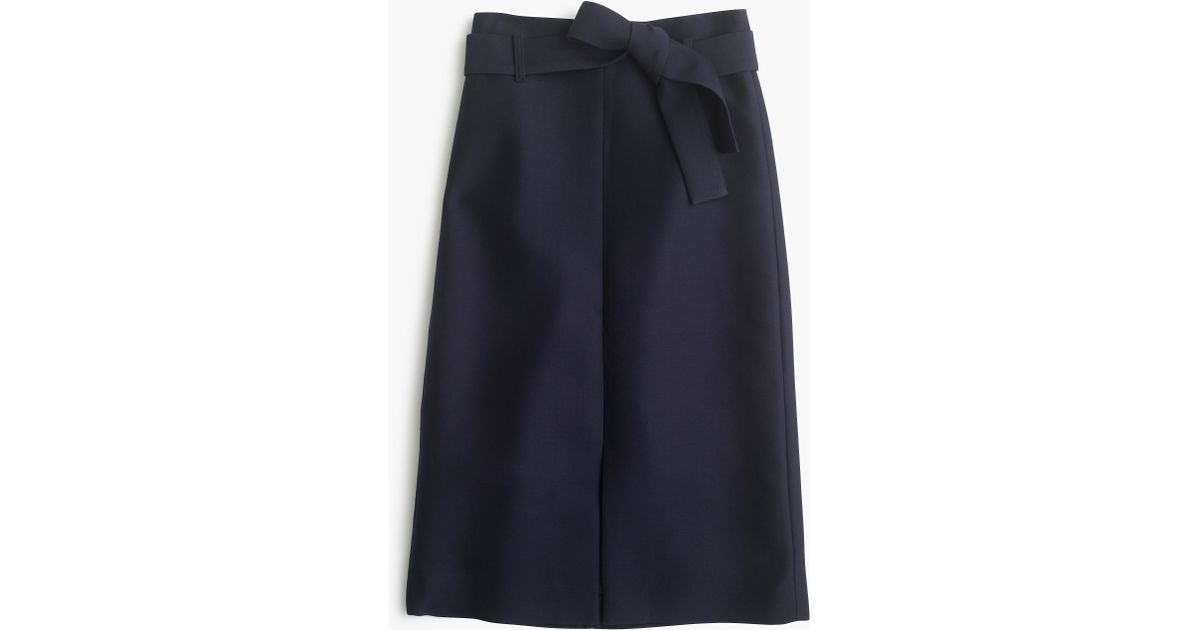 c115bb3413 J.Crew Collection A-line Midi Skirt In Italian Wool Blend in Blue - Lyst