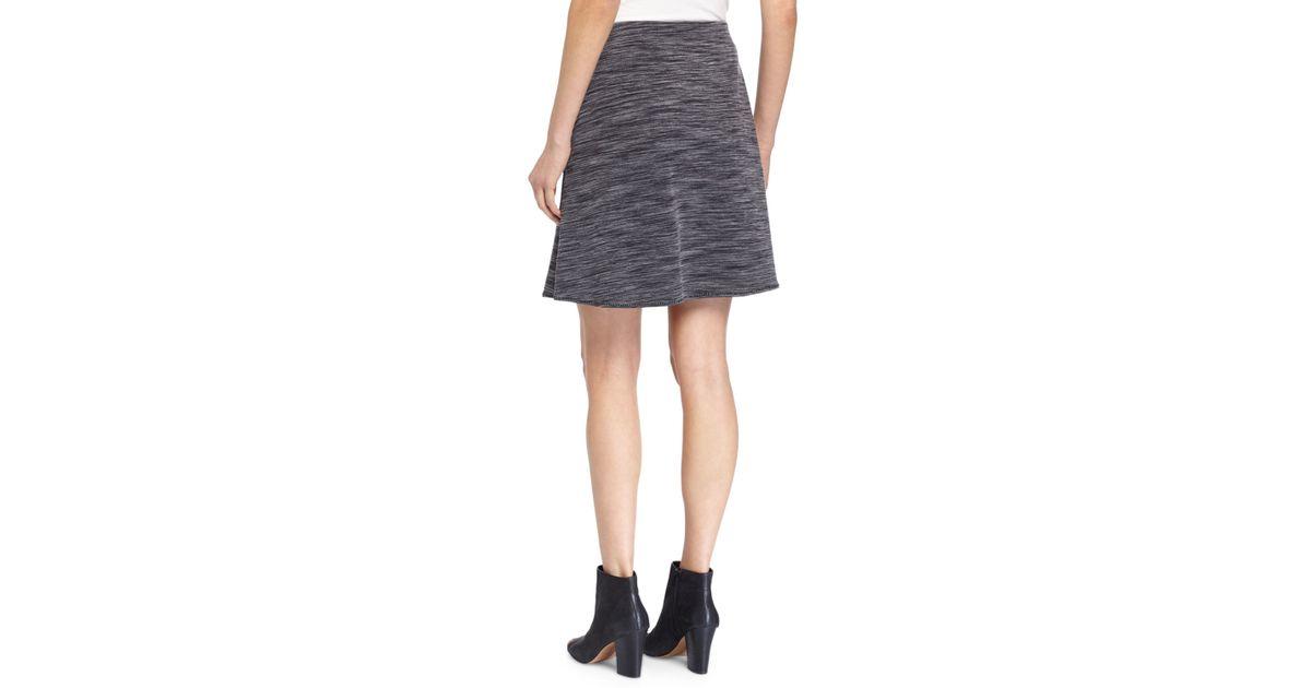 max studio ponte knit a line skirt w tonal stitching in