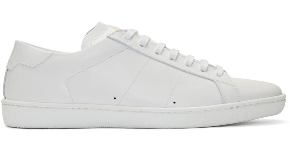4e20443299fc4 Saint Laurent White Sl-01 Low-top Sneakers in White for Men - Lyst
