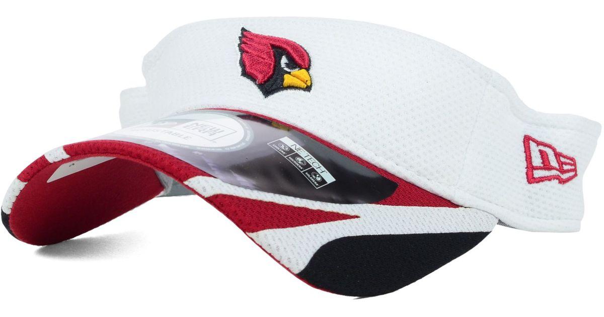60818343 KTZ White Arizona Cardinals Training Camp Visor for men