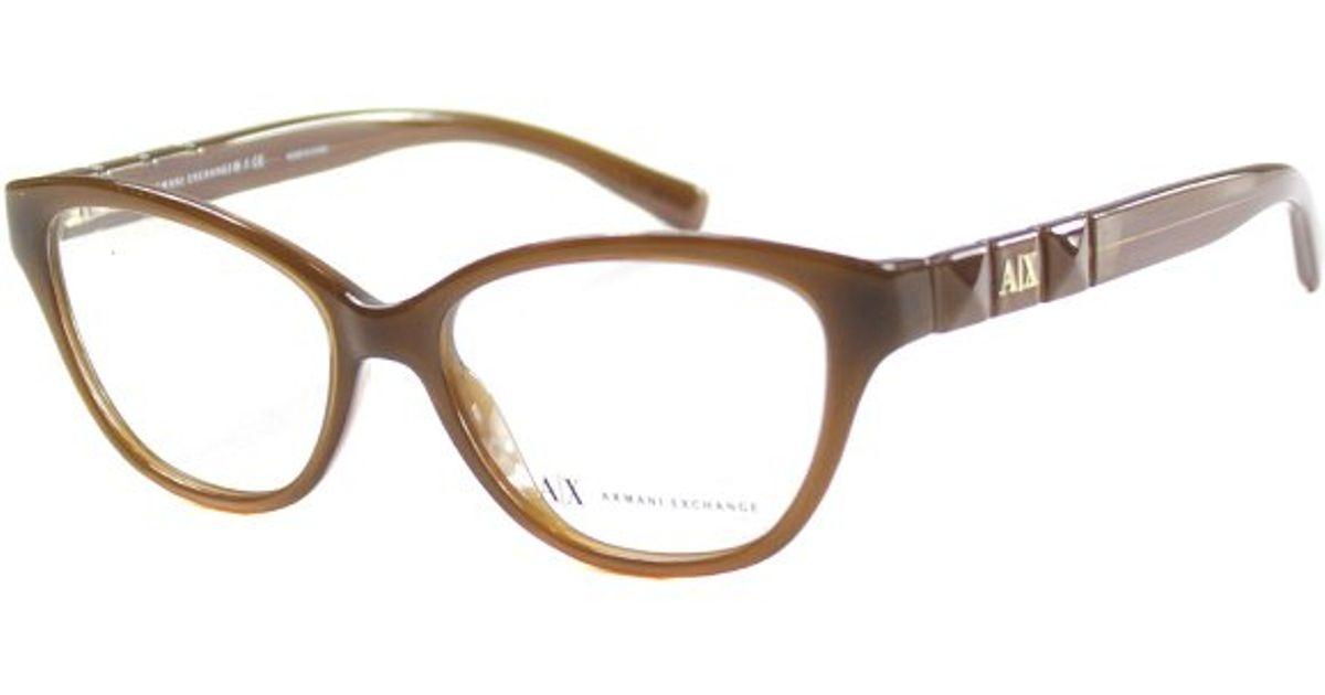 Armani Glasses Frames 2015 : Armani exchange Ax 3013 8092 Milky Brown Cat-eye Plastic ...