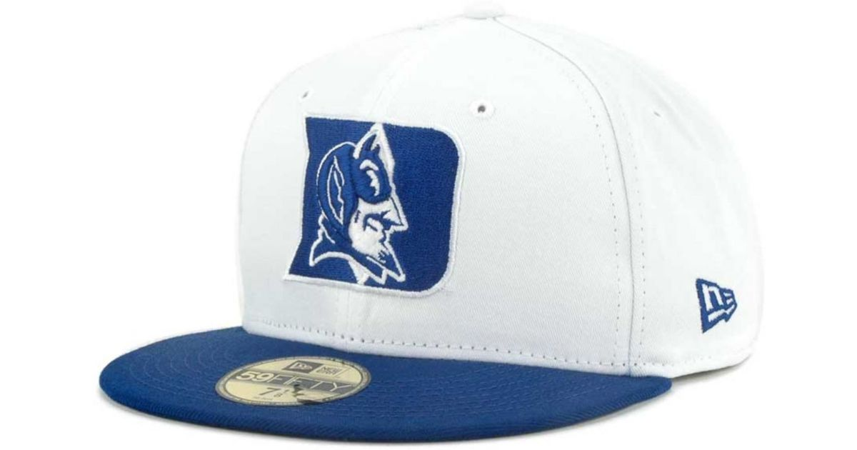 679aa5dc90518 ... top quality lyst ktz duke blue devils ncaa white 2 tone 59fifty cap in  blue for