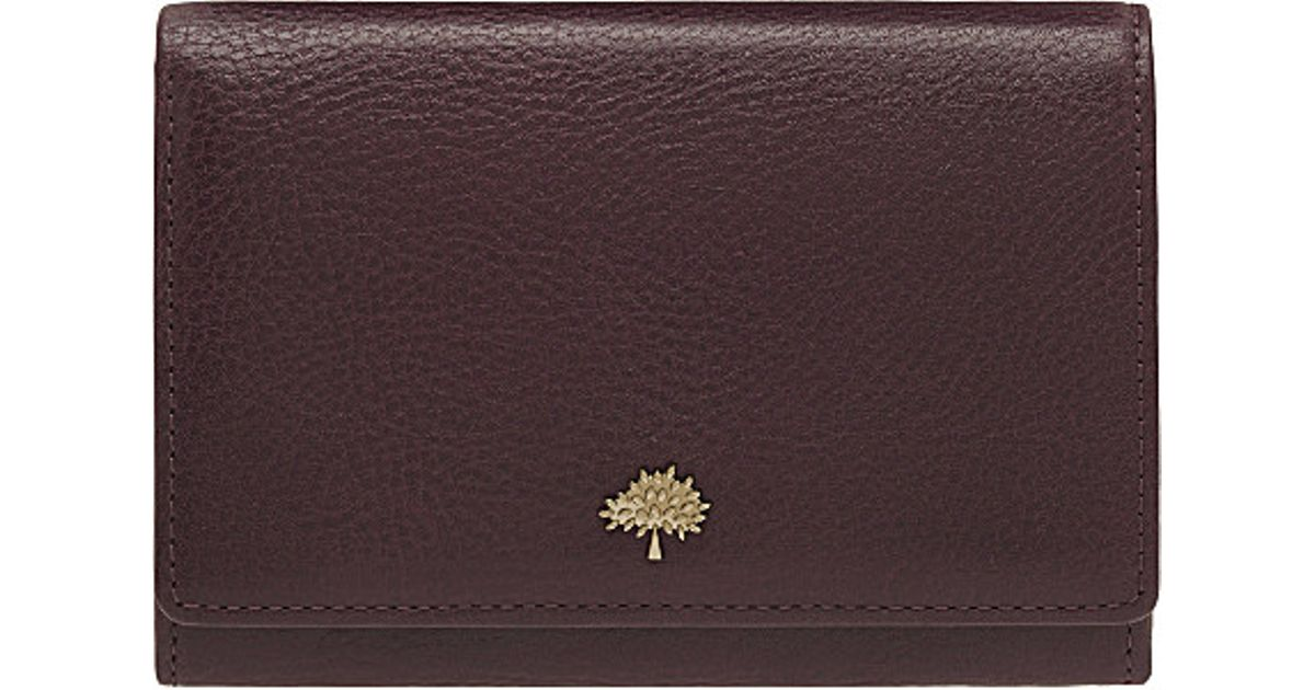 4d413bc136 Mulberry Tree French Leather Purse in Purple - Lyst