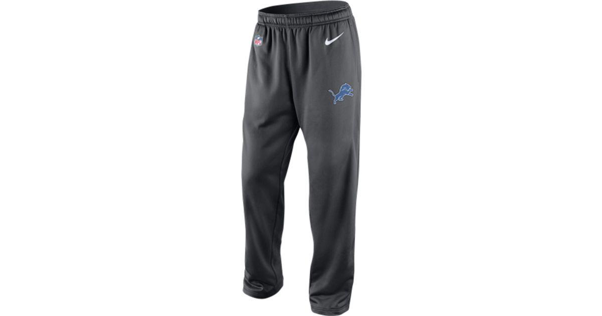 Mens Detroit Lions Nike Black KO Logo Essential Hoodie