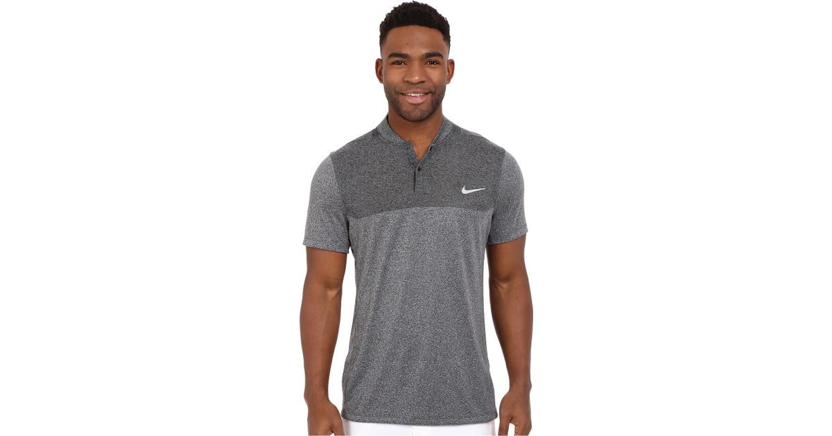 5a80ae398 Nike Momentum Flex Knit Polo in Gray for Men - Lyst