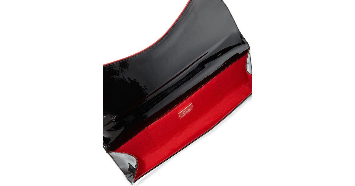 31d204253d6 Christian Louboutin Black Pigalle Patent Clutch Bag