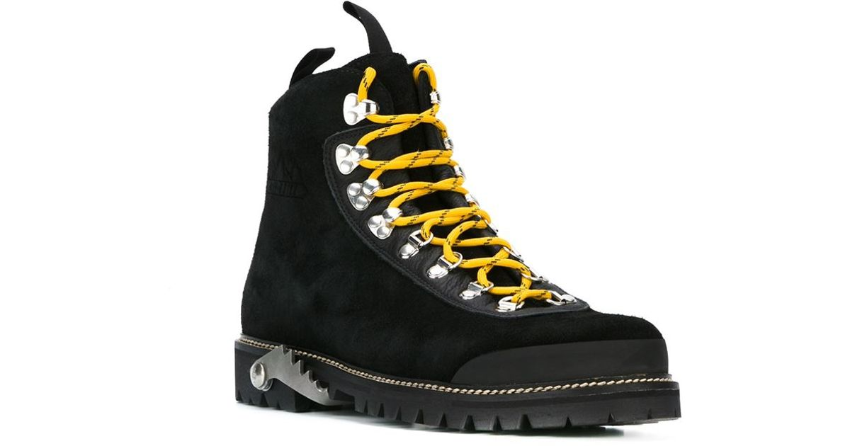 eb94908a78b Off-White c/o Virgil Abloh Black Classic Hiking Boots for men