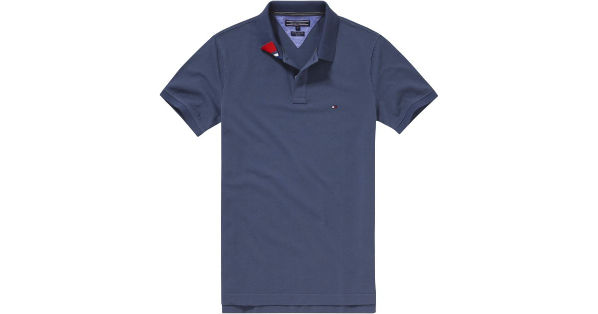 35f8c9cd Tommy Hilfiger Slim Fit Polo Shirt in Blue for Men - Lyst