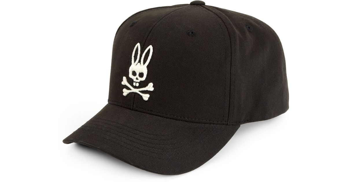 e9f129fb240 Lyst - Psycho Bunny Grande Bunny Ball Cap in Black for Men
