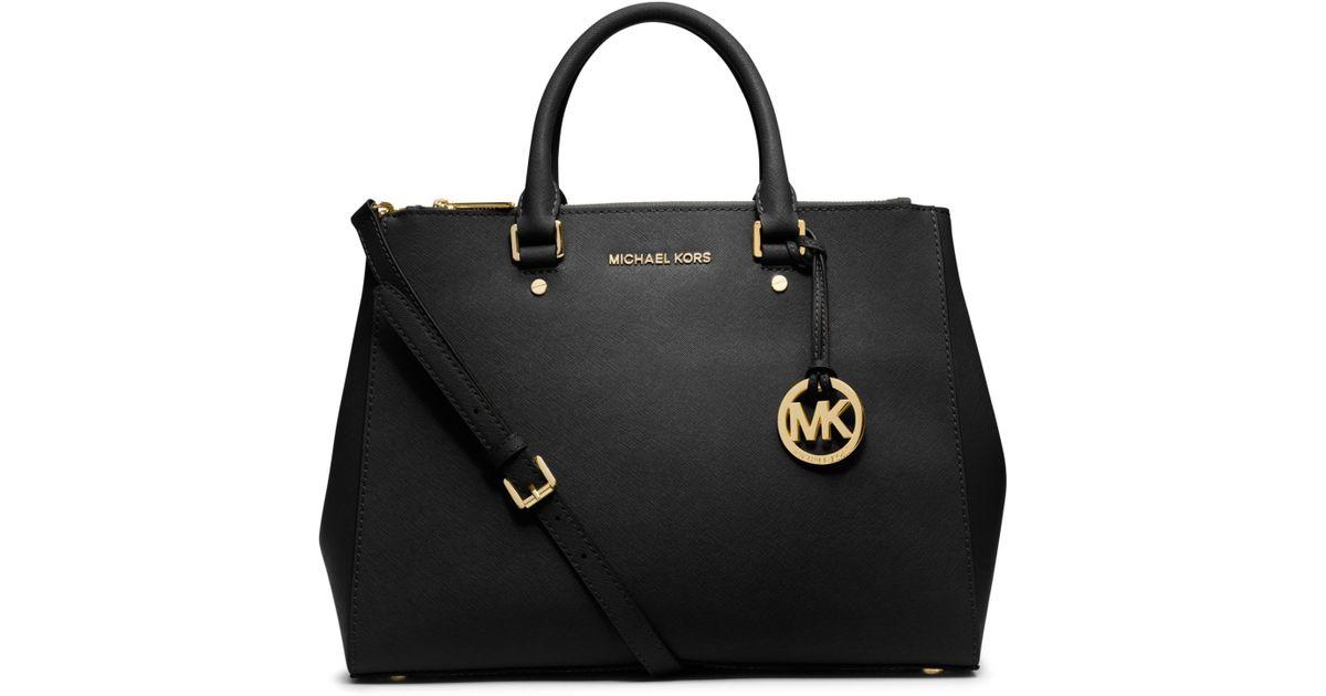 f990307a7bd6 ... closeout michael kors sutton saffiano leather large satchel in black  bddb2 2d0bb ...