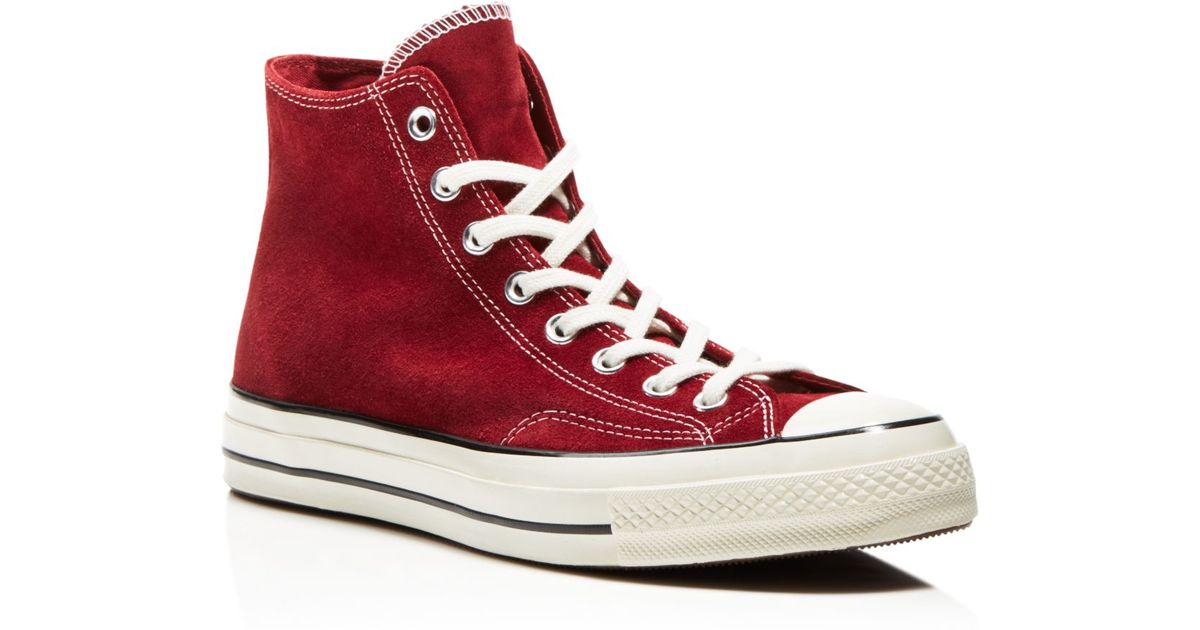 Lyst Converse All Star 70 High Top Sneakers In Red Suede In Red