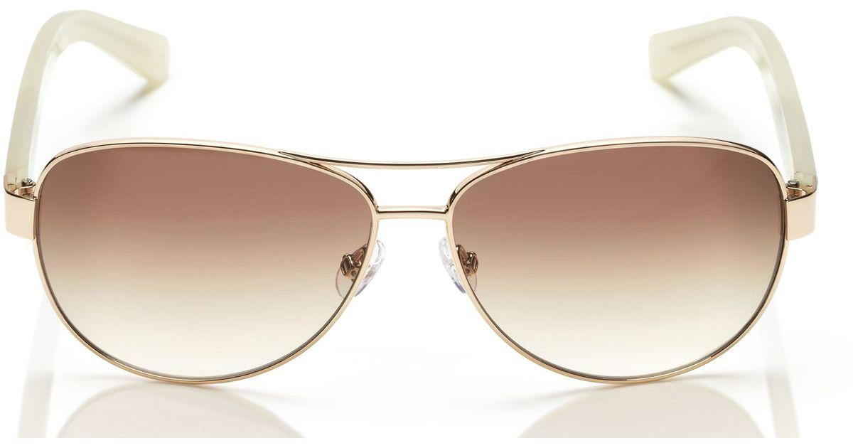 9b65f08790e Kate Spade Dalia Sunglasses in Metallic - Lyst