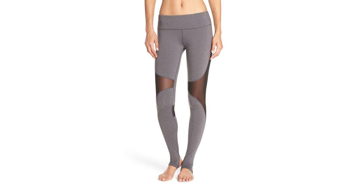 76dab778c01a8 Alo Yoga 'coast' Mesh Inset Stirrup Leggings in Black - Lyst