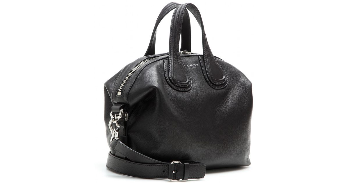 503b3e44e372 Lyst - Givenchy Nightingale Small Leather Tote in Black