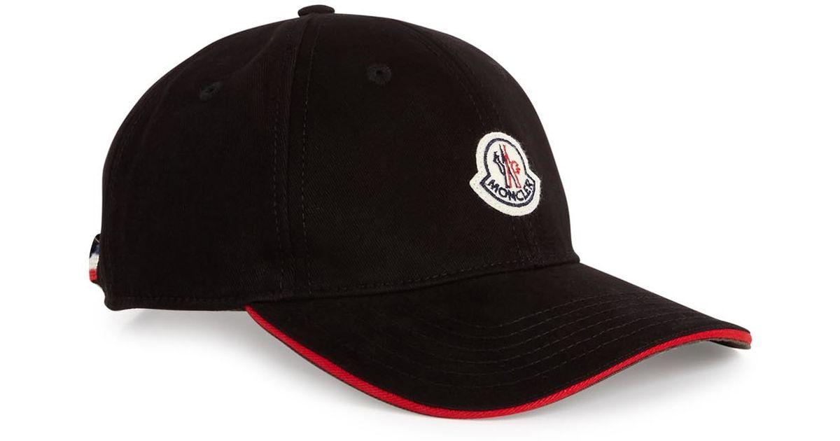 ac2f7af0199 Moncler Black Twill Cap in Black for Men - Lyst