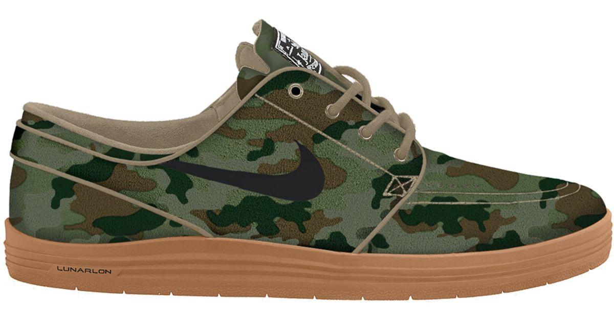 best sneakers 6a944 28920 Lyst - Nike Sb Lunar Stefan Janoski Camo in Natural for Men