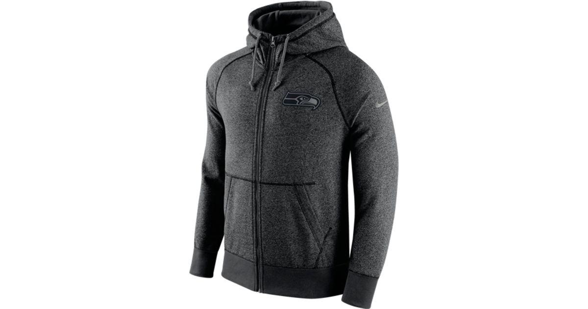 pretty nice 43470 5d844 Nike Gray Men's Seattle Seahawks Gridiron Full-zip Hoodie for men