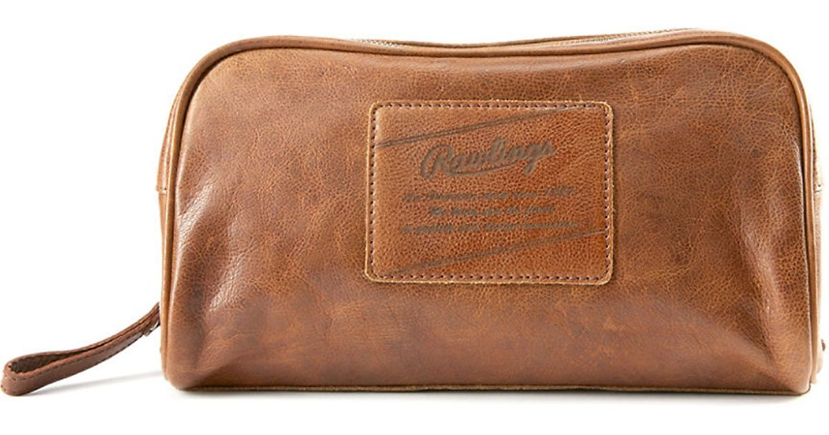 0c6fa67135f3 Lyst - Rawlings Rugged Leather Travel Case in Natural for Men