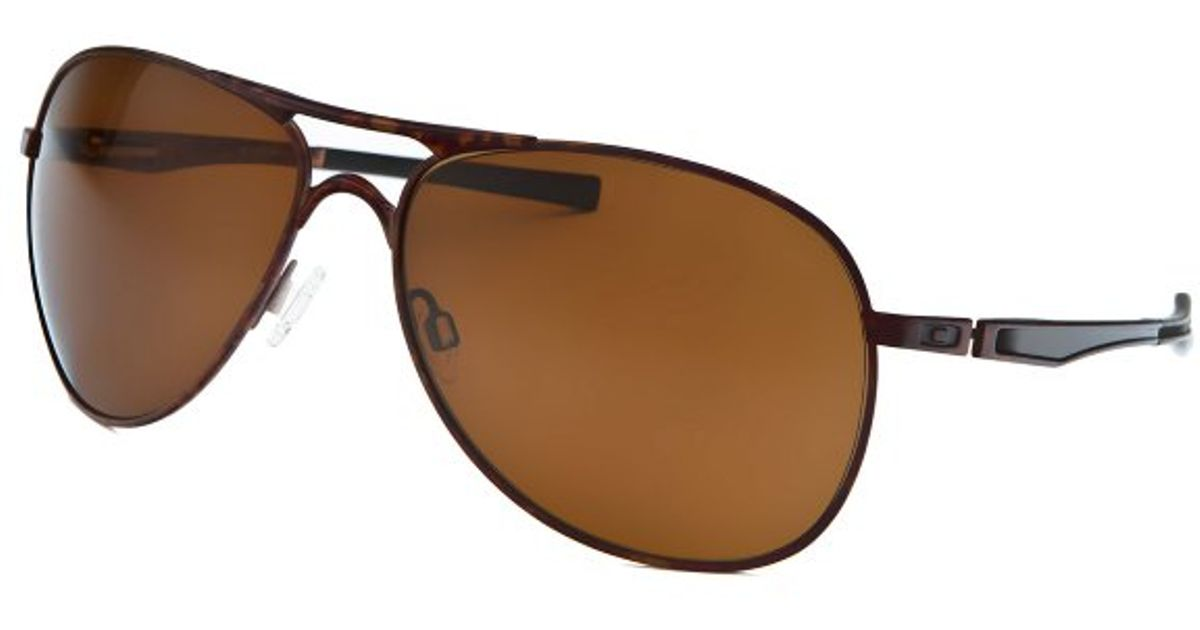 075d42467cb Lyst - Oakley Mens Plaintiff Pilot Brown Camouflage Sunglasses in Brown for  Men