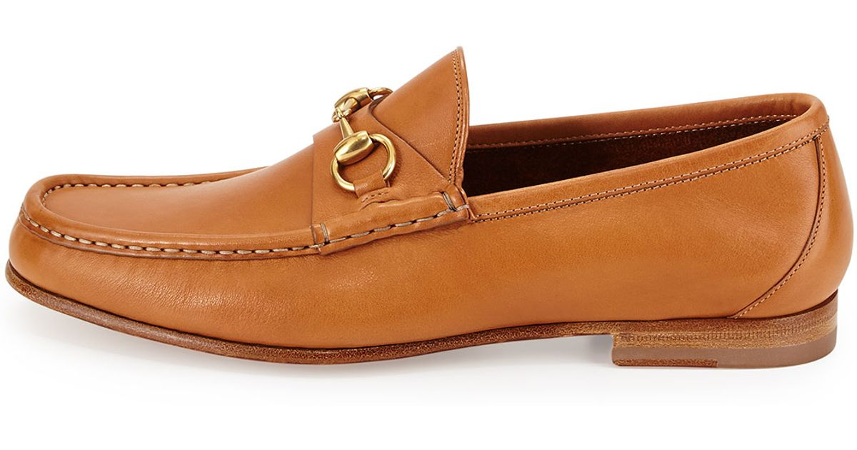 a4d0afe4031 Gucci Leather Horsebit Loafer in Brown for Men - Lyst