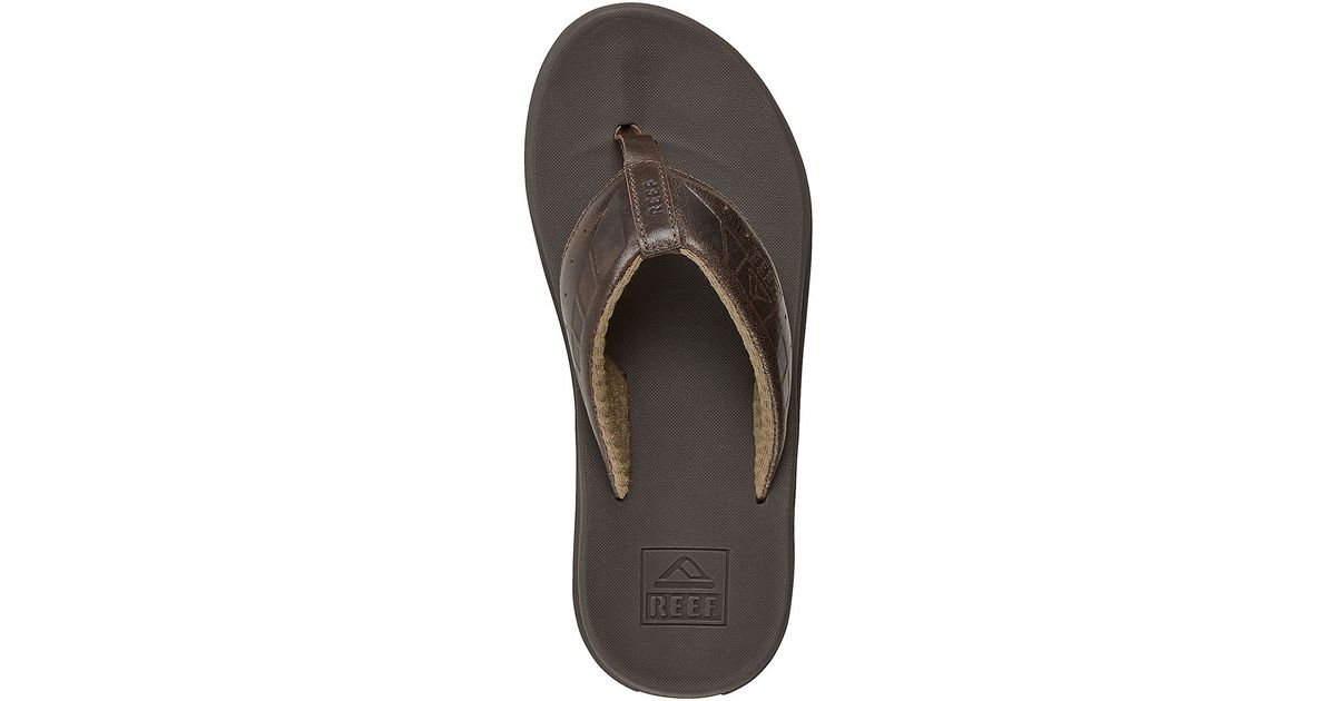730bfb432 Reef Phantom Leather Thong Sandals in Brown for Men - Lyst