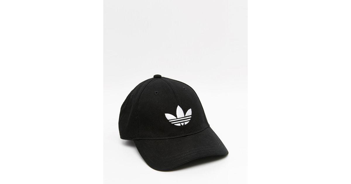 Lyst - adidas Originals Trefoil Cap In Black in Black for Men 9781641c3b4e