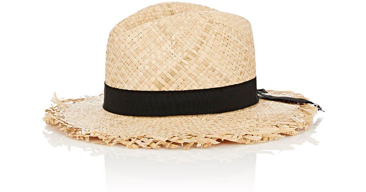 f2bae5322 Barneys New York Natural Women's Raw-edge Straw Hat