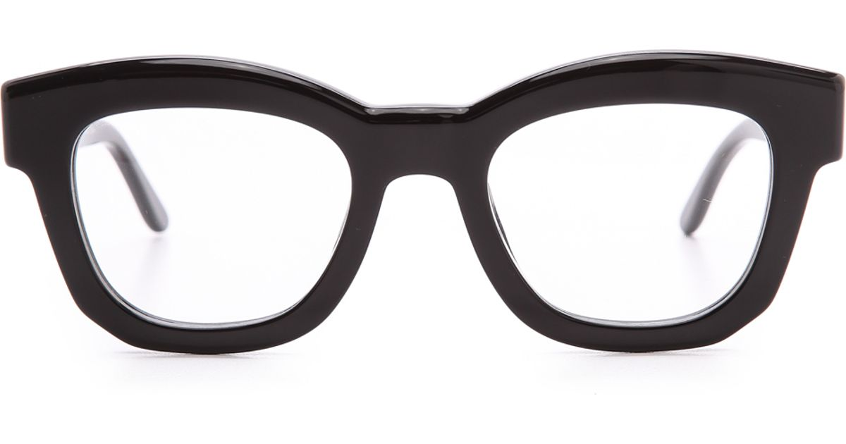 Lyst Stella Mccartney Thick Frame Glasses Brown In Black