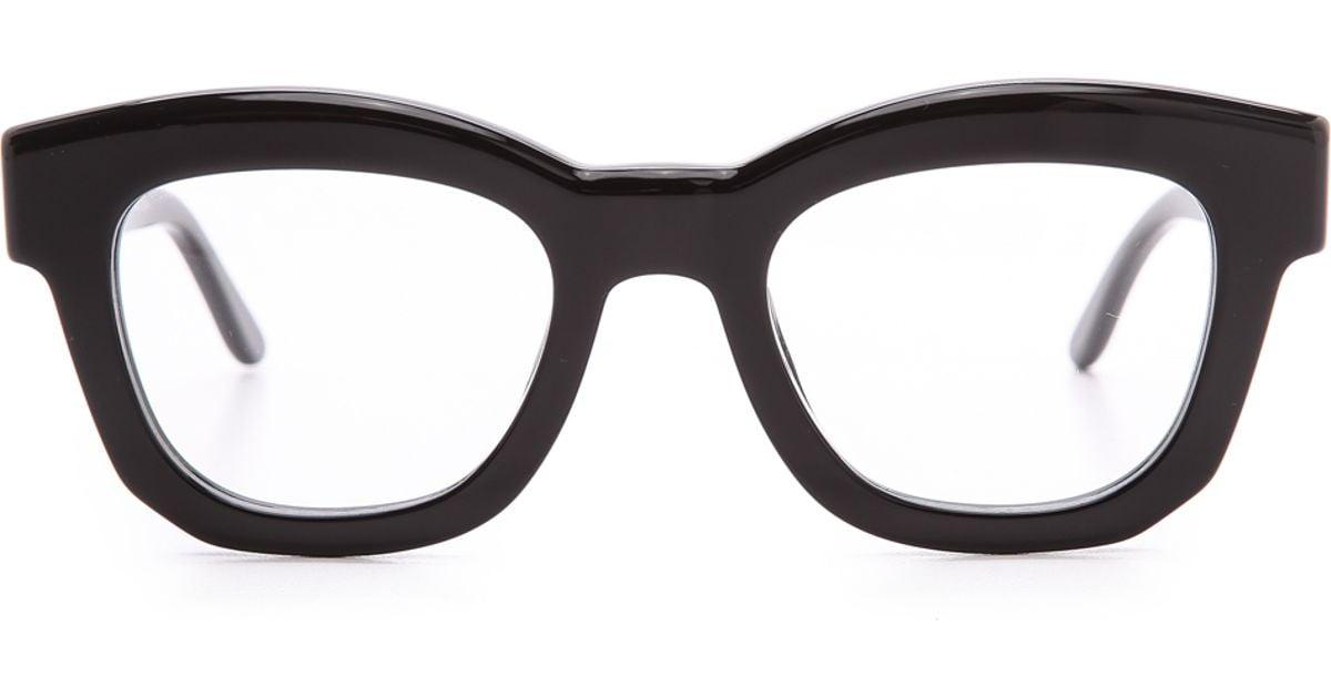 e90140559b5a4 Stella McCartney Thick Frame Glasses - Brown in Black - Lyst