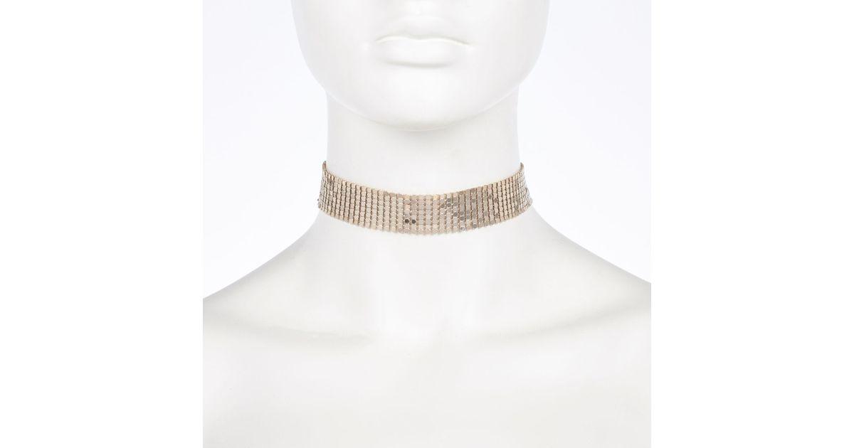 f2d79f73e4cb7 River Island Metallic Gold Tone Disco Choker Necklace