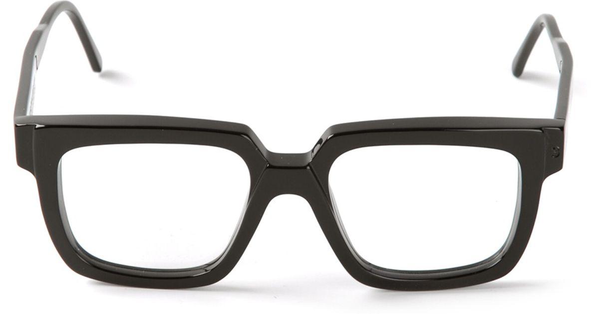 Lyst - Kuboraum Square Frame Glasses in Black for Men