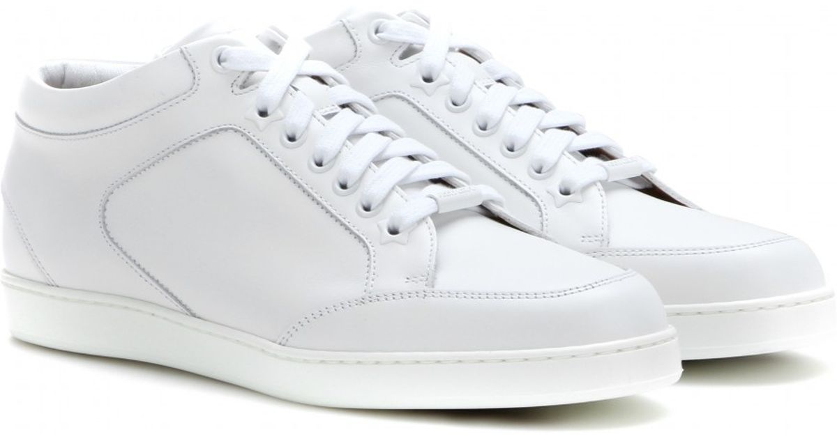 Jimmy Choo Miami Leather Sneakers in