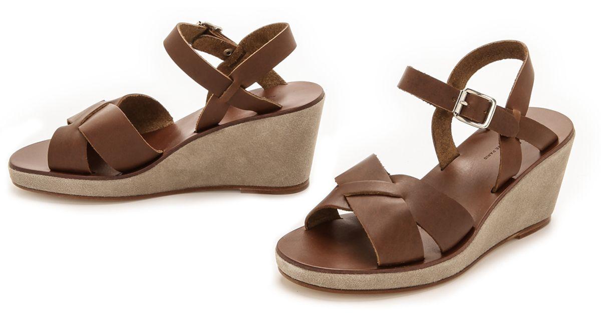 Glace p Marron Lyst Wedge A Classic cBrown Sandals gvf7yIb6Ym