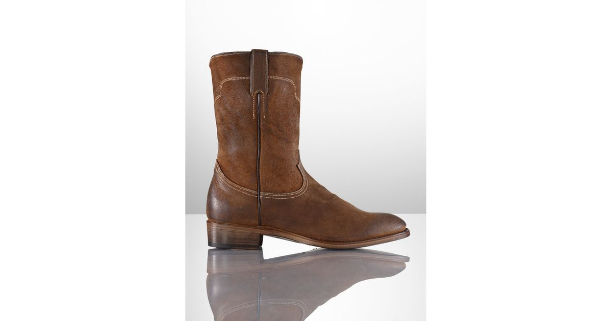 c1e20d6aefd Ralph Lauren Brown Ackley Oiled Suede Boot